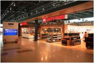 Skopje airport duty free shop